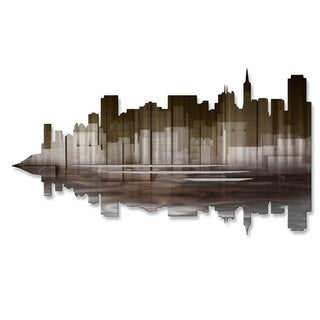 'San Francisco Reflection II' Ash Carl Metal Wall Art