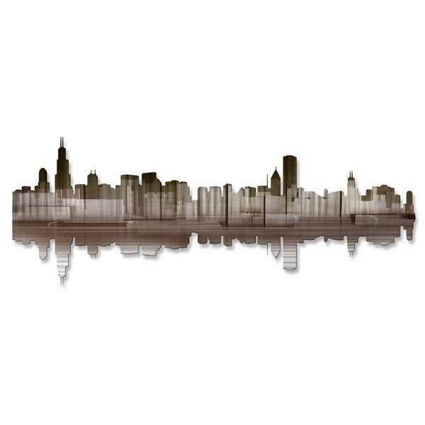 'Chicago Reflection IV' Ash Carl Metal Wall Art 16855994