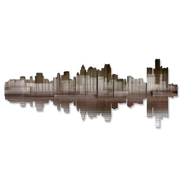 'Detroit Reflection II' Ash Carl Metal Wall Art 16856007