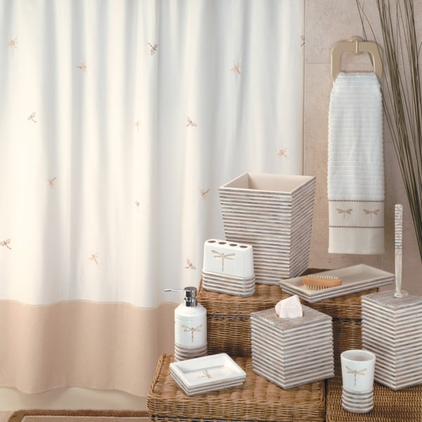 'Dragonfly' Shower Curtain & Hook Set - Multiple Options Available