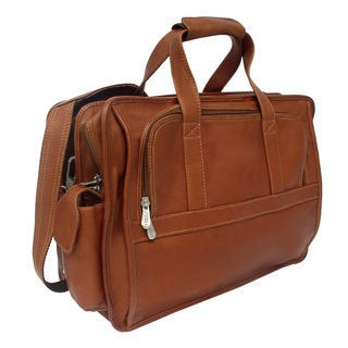 Piel Leather Half-Moon Computer Portfolio Briefcase
