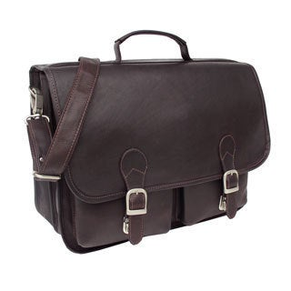 Piel Leather Executive Two Pocket Portfolio Briefcase