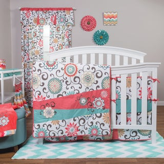 Trend Lab Waverly Pom Pom Play 4-piece Crib Bedding Set