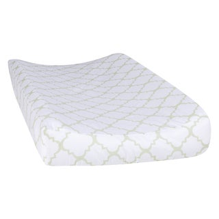 Trend Lab Sea Foam Quatrefoil Changing Pad Cover
