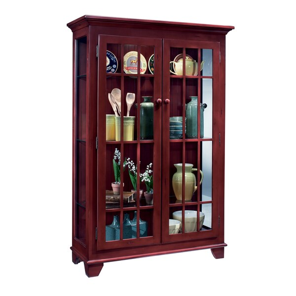 Philip Reinisch Co. Color Time Monterey Two-Door Display Chili Pepper Red Cabinet