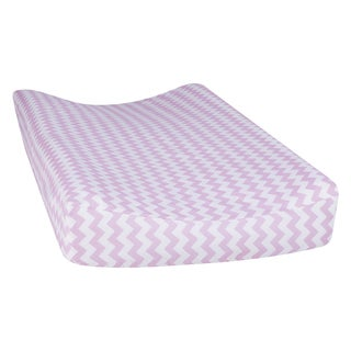 Trend Lab Orchid Bloom Chevron Changing Pad Cover