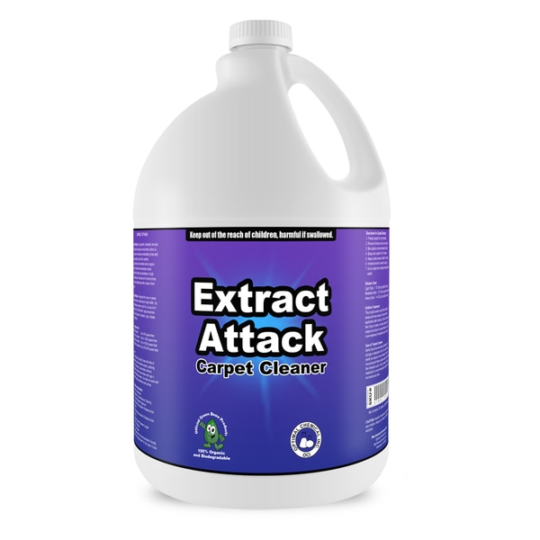 Extract Attack - Organic Carpet Cleaning Solution For Carpets, Rugs, Furniture, & Automotive Upholstery, 1 Gallon