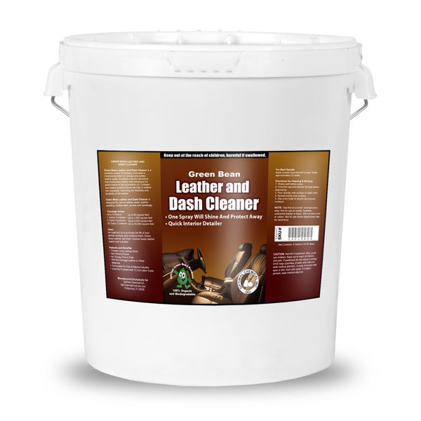 Leather and Dash Cleaner - Non Toxic Leather Cleaner, 5 Gallon