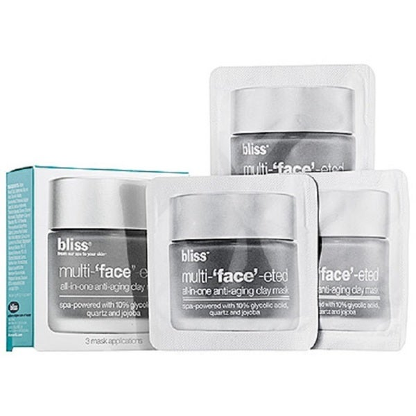 Bliss Multi-'face'-eted All-in-One Anti-Aging Clay Mask Packets (Set of 3)
