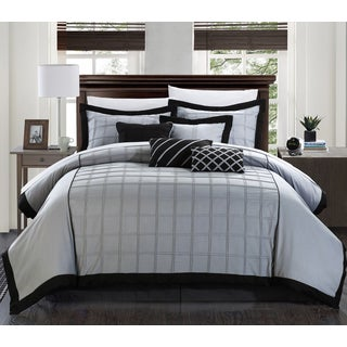 Chic Home Oversized and Overfilled Reynold Black 12-piece Bed in a Bag with Sheet Set