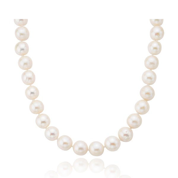 PearlAura Sterling Silver Pearl Necklace