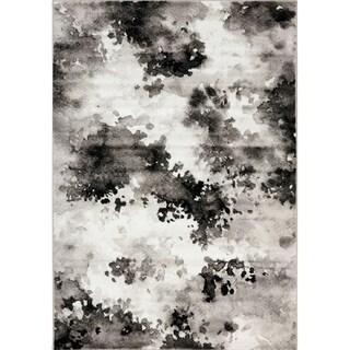 Plait Black and Grey Airbrush Area Rug (5'3 x 7'7)