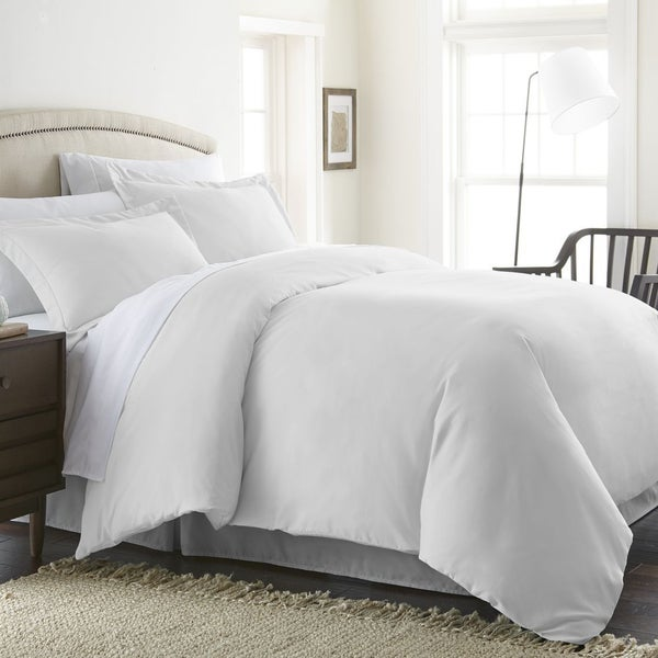Soft Essentials Ultra Soft 3-piece Duvet King/Cal-King Size Cover Set in White(As Is Item)