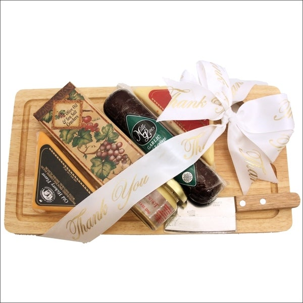 Cheese Board Delights Thank You Cheese and Cracker Gift Pack