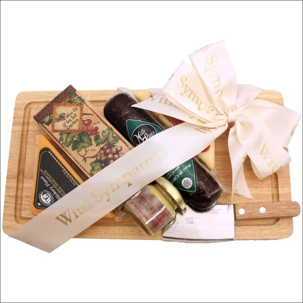 Our Condolences Sympathy Cheese and Cracker Gift Pack