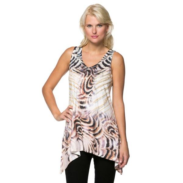 High Secret Women's Print Sleeveless Tunic