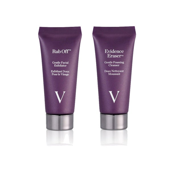 Vbeaute Evidence Eraser Gentle Foaming Cleanser and Rub Off Gentle Facial Exfoliator 2-piece Kit