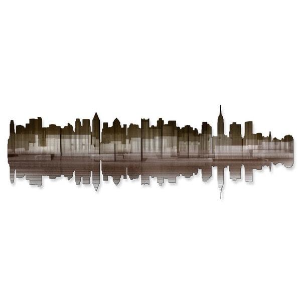 'New York City Reflection IV' Ash Carl Metal Wall Art 16857523