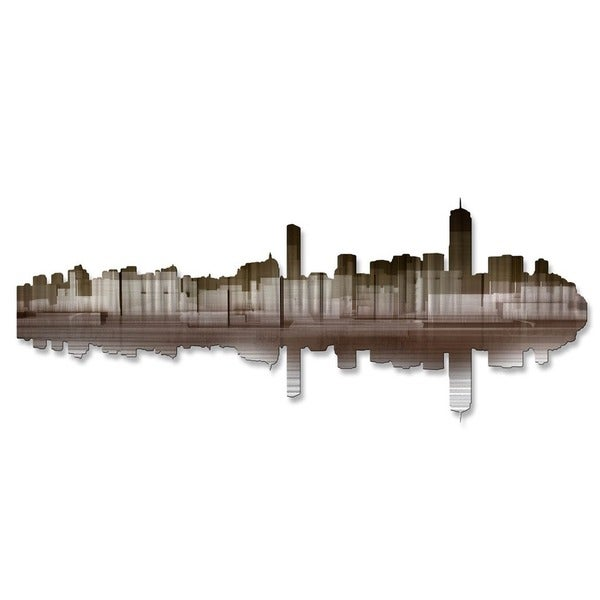 'Boston Reflection II' Ash Carl Metal Wall Art
