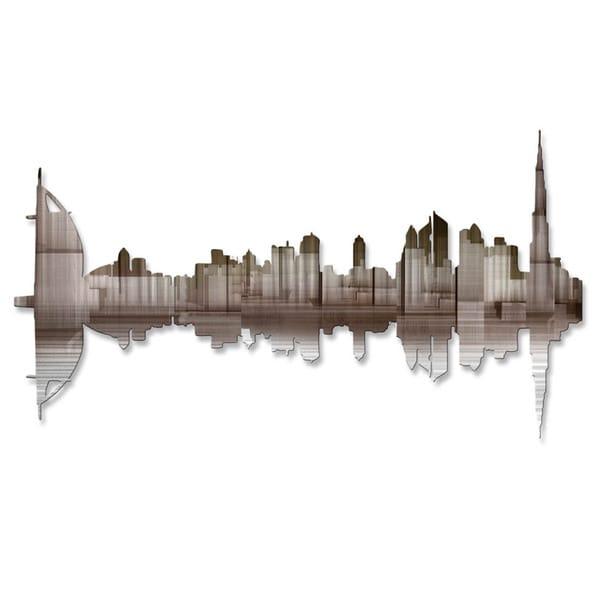 'Dubai Reflection II' Ash Carl Metal Wall Art 16857823