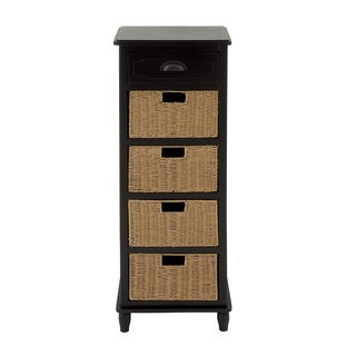 Wood Basket High Chest (16 Inches Wide , 46 Inches High)