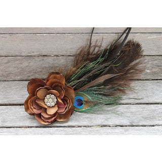 CarolineAlexander Autumn Feather Fascinator