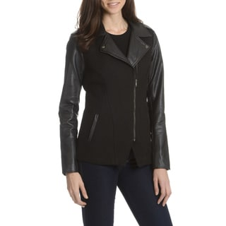 Ashley Women's Basketweave Angle Zipper Jacket