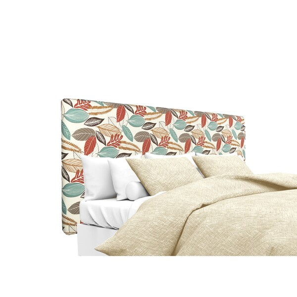 MJL Furniture Alice Flora Foliage Coral Upholstered Headboard