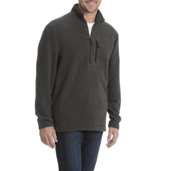 Narragansett Traders Men's Solid Quarter Zip Fleece Sweater