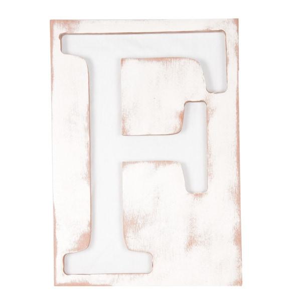 Large Mahogany Letter F Frame