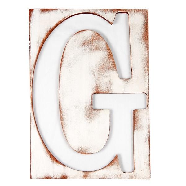 Large Mahogany Letter G Frame