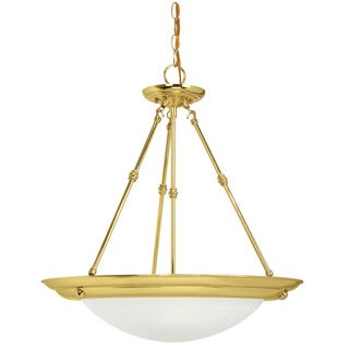 Crown Lighting Traditional 2-light Polished Brass Pendant