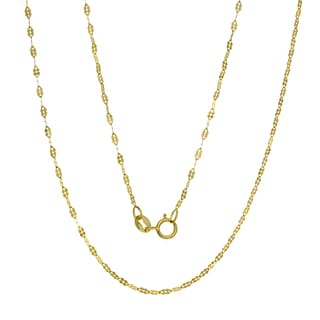 14K Gold Italian Fancy Mirror Link Chain (16-20 inches )