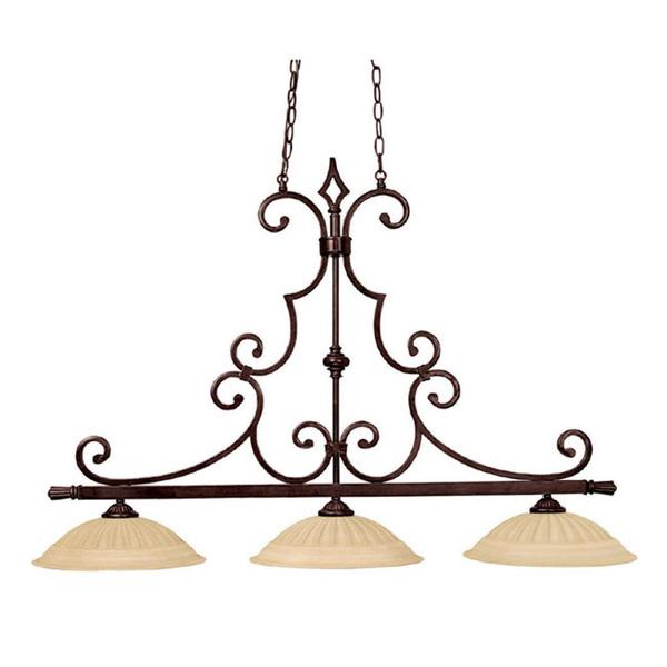 Crown Lighting Traditional 3-light Mediterranean Bronze Island Fixture
