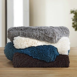 Chic Home Juneau Shaggy Faux Fur Super soft Ultra Plush Decorative Throw Blanket