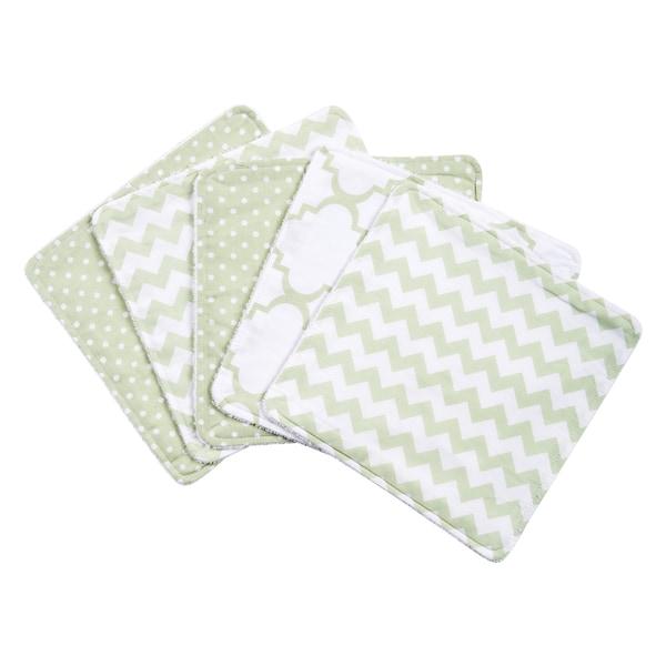 Trend Lab Sea Foam 5 Pack Wash Cloth Set