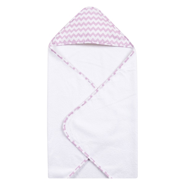 Trend Lab Orchid Bloom Chevron Hooded Towel
