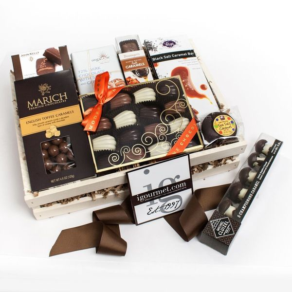 The Devine Chocolate Caramel Gift Crate