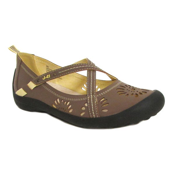 Jambu J-41 Women's Anastasia Mary Jane Flat shoe Tobacco US 8
