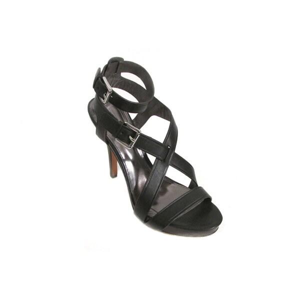 Coach Aleah Women's Black Leather Platform Stiletto Sandals