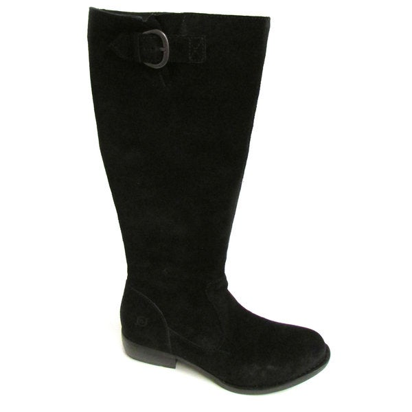 Born Women's Miria Black Suede Tall Boots US 6.5