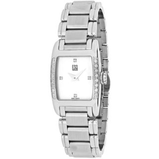 ESQ Women's 7100961 Quest Rectangular Silver tone Stainless Steel Bracelet Watch