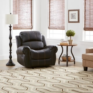 Charlie PU Leather Glider Recliner Club Chair by Christopher Knight Home