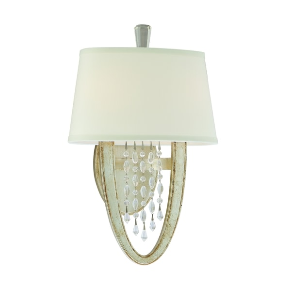 Corbett Lighting Viceroy 2-light Oval Silver Wall Sconce