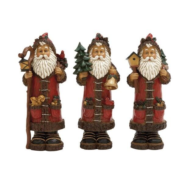 11-inch Santas (3 Assorted)