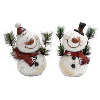 87938- 2 Assorted Snowman Decor