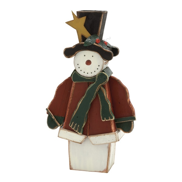 Snowman with Green Scarf
