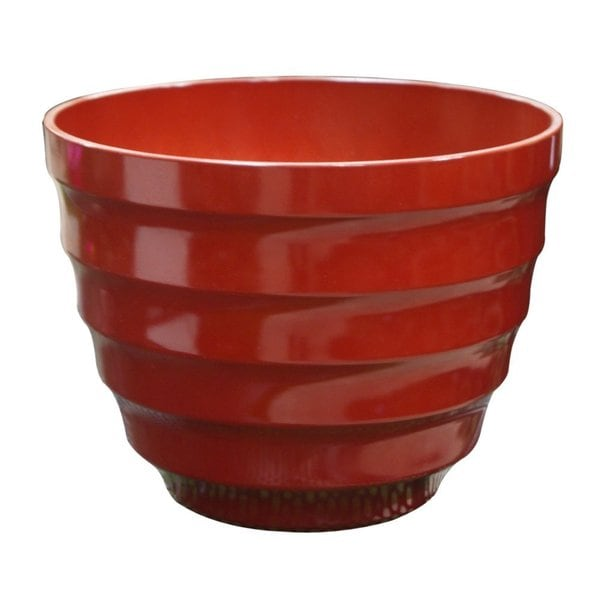 Benzara 16-inch Medium Red Rippled Planter