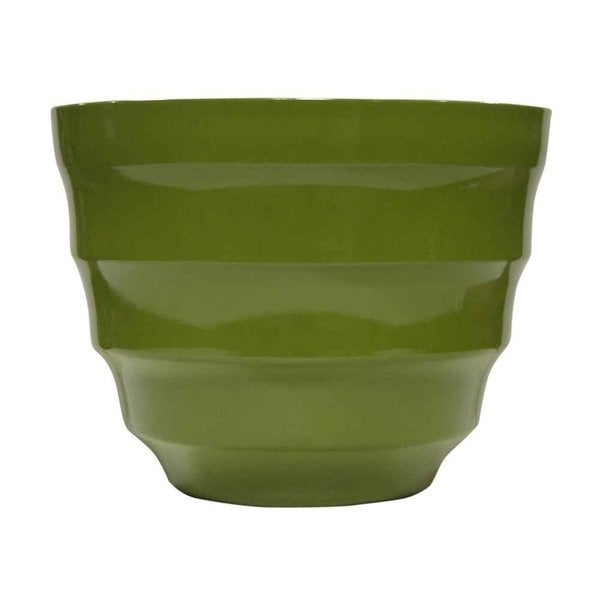 Benzara 12-inch Small Light Green Rippled Planter