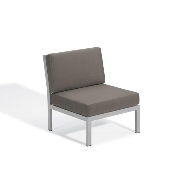 Oxford Garden Travira Modular Side Chair - Aluminum Frame, Stone Cushion